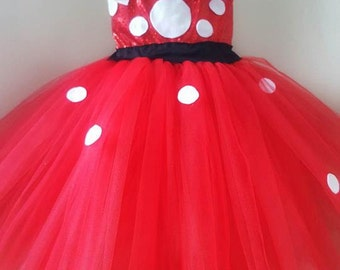 Minnie Mouse tutu dress,HEADBAND INCLUDED* Minnie Mouse tutu, Minnie Mouse dress, Minnie birthday costume, Minnie mouse birthday