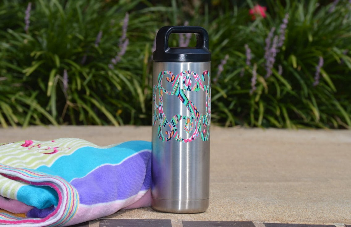 Lilly Pulitzer Monogrammed Yeti Bottle All By