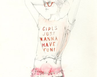 Girls Just Wanna  ||  Original Illustration