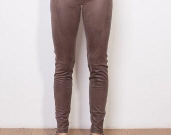 Final sale, Suede leggings, Suede pants, Suede trousers, Eco suede pants, Veggie suede pants, Veggie suede leggings