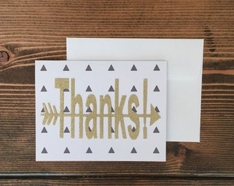 Greeting Card | Thank You Card | Thanks! | Triangles