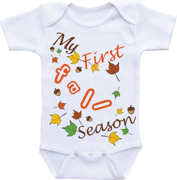 outfit baby shower gift clothing fall onesie first fall baby outfit