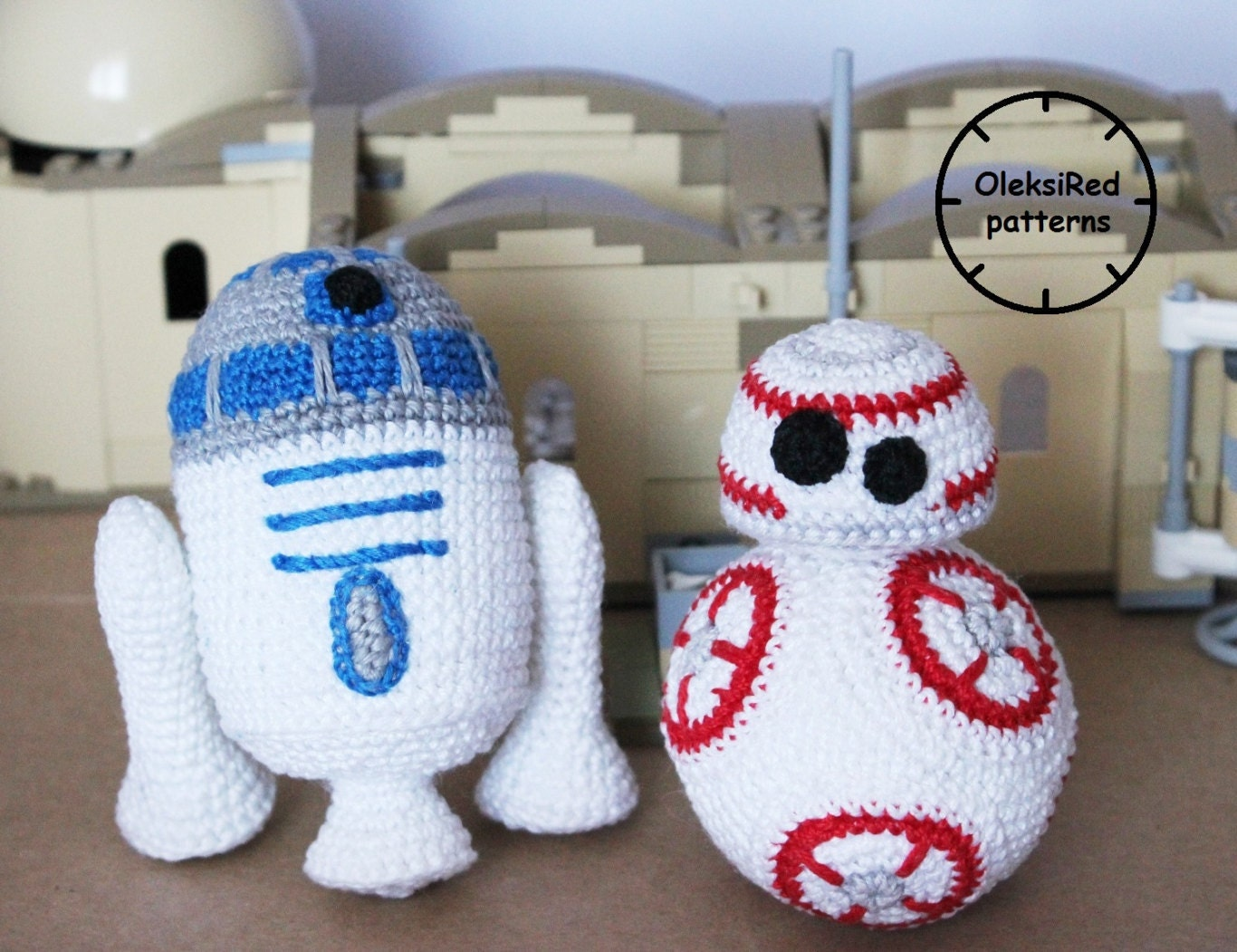 Free Star Wars Crochet Amigurumi Patterns : Star Wars CROCHET PATTERNS characters BB8 and R2D2