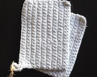 Crocheted pot holders, set of 2