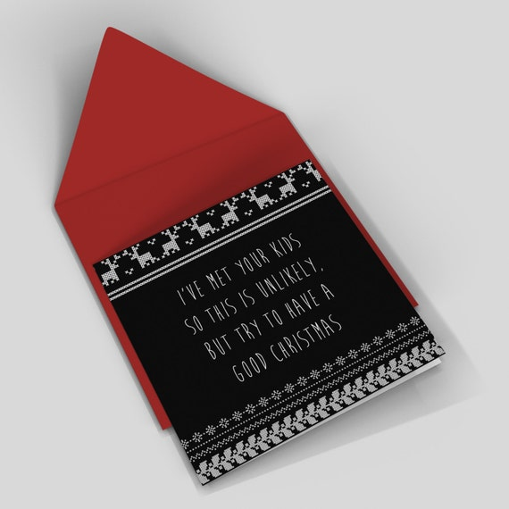 Funny christmas card - your terrible kids - rude card