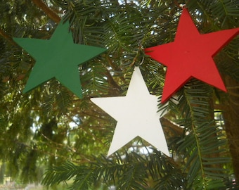 Christmas Tree Wooden Star Ornaments