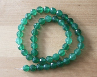 Aventurine 8mm Faceted Round Beads - Full Strand