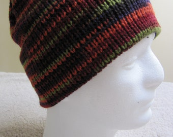 Multicolored Wool Knit Hat: Harvest