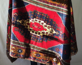 Vintage high quality traditional Turkish wool rug 5x9ft