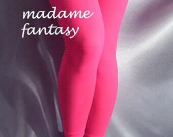 Thin spandex leggings neon pink