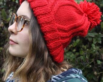 Cozy Red Beanie | VegBethany