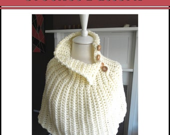 Crochet PATTERN - Capelet - Quick and Easy Project, Instant Download