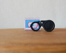 Vintage Folding Loupe, Soviet Folding Magnifying Glass, Russian Magnifier, USSR Reading-Glass, Pocket Lens, Small Compact Lens, Key Holder