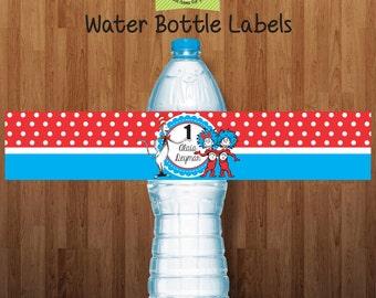Dr Seus 24 Printed Water Label (Water resistant)