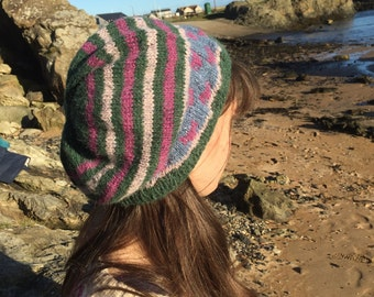 Fox and Stripe Beanie Hat