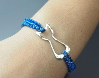 Bracelet, Cat Bracelet, Macrame Bracelet, Perfect Gift for the Cat Lover