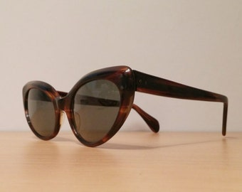 New Old Stock, Vintage Titmus Cabana Cateye Sunglasses TS-7578, NOS, Vintage Tortoise Cat Eye Sunglasses