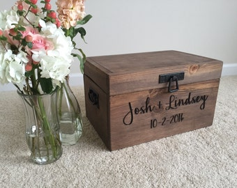 Personalized Engraved Wedding Card Box