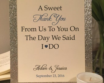 Wedding Favor Sign