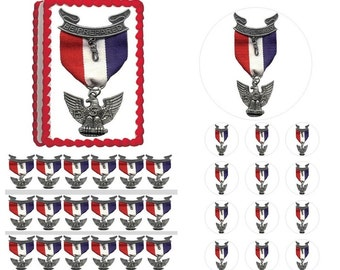 EAGLE SCOUT Court of Honor Eagle Ribbon Edible Cake Topper Image Frosting Sheet Cake Decoration Many Sizes!