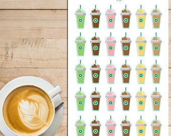 Coffee Frappe Planner Stickers (S-072)