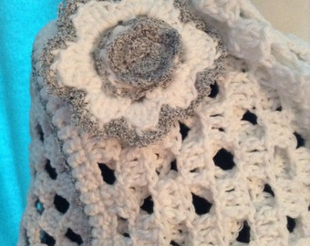 Crochet shawl and cap