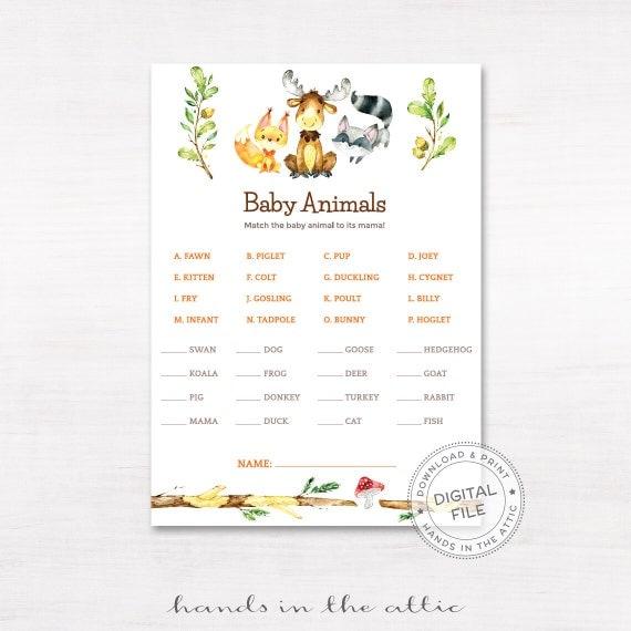 Resource image regarding baby animal match game printable