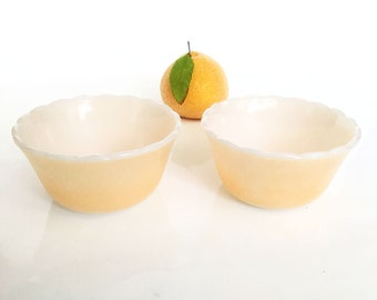 Fire King Peach Vintage Ovenware Bowls  Set of Two Dishes