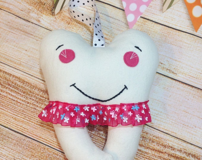 Hanging Tooth Fairy Pillow, Tooth Fairy Pouch, 1st Lost Tooth, Small Tooth Fairy Pillow