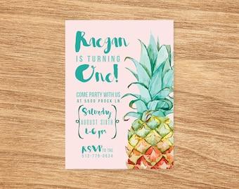 Pineapple Birthday Invitation - Pineapple invites