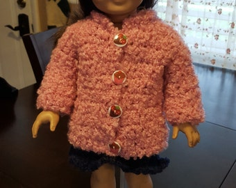 18 inch doll coat and hat