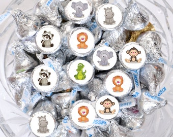 324 Jungle Kiss Stickers, Jungle Label Hershey® Kisses, Jungle Birthday Party, Jungle Chocolate Labels, Jungle Baby Shower Party Favor