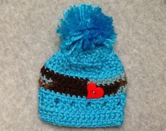 Hand Crocheted Baby Boy Hat