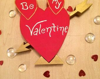 Be My Valentine Sign - Valentines Centerpieces - Valentines Decor Heart - Valentines Sign - Valentines Wood Heart - Valentines Wood Decor