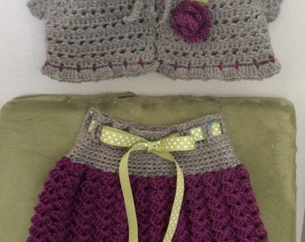 Crochet Toddler Skirt and Matching Bolero