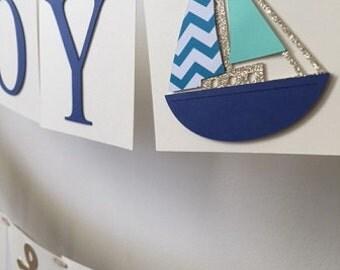 Nautical Baby Boy Shower Banner