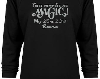 These Memories are Magic Disney Bahamas Cruise Glitter Vacation sweatshirt