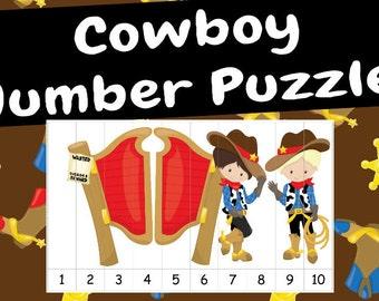 Cowboy Number Puzzles