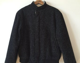 flecked wool jacket