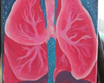 Lungs 9x12 Acrylic Painting