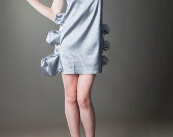 Extravagant Sleeveless Mini Dress/ Deconstructed Dress With Lumps And Bumps/Deconstructed Clothing by FabraModaStudio/ FAB121