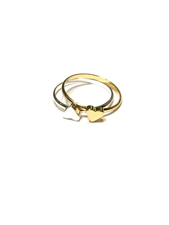 Heart Wedding Rings Etsy