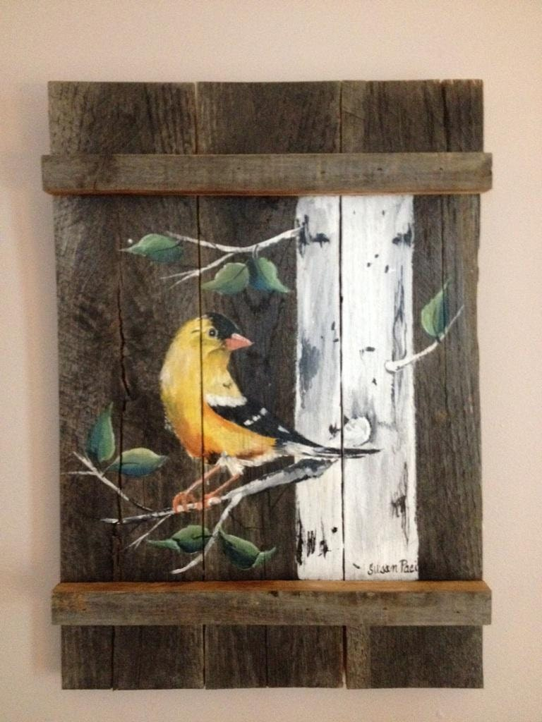 Pallet Painting Distressed Wood Art Pallet Art Customizable