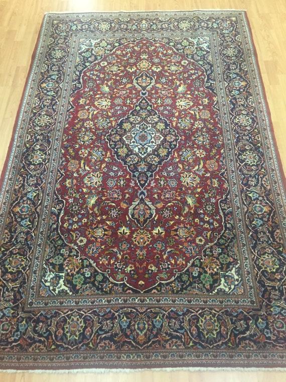 "4'6"" x 7' Persian Kashan Oriental Rug - Fine - Hand Made - 100% Kork Wool"