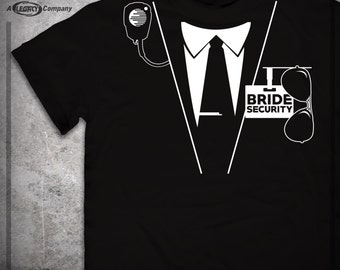 RING BEARER - Wedding Party - Bride Security Shirt - Great Groomsman or Father of the Bride Gift! ID50