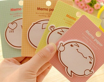 Kawaii Face Expression Sticky Notes / Expressive Memo Paper / Stationery / Stationary / School Supplies / Memo Pad / Cute Post It Notes
