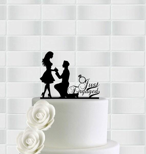 Engagement Cake TopperEngagement Party by Worldlaserdesign ...