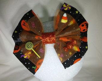 Trick or Treat Halloween hair bow