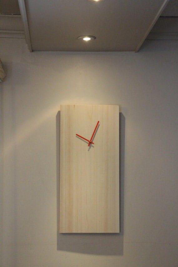 Modern Wall Clock Unique Wall Clock Rustic Wall Clock
