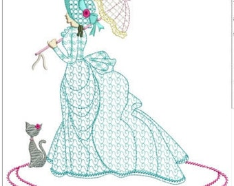 """Southern belle machine embroidery download 3 different sizes ( 8x8""""  6x6"""" 5X5"""" hoop )"""